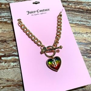 Juicy Couture Rainbow Charm Gold-Tone Necklace